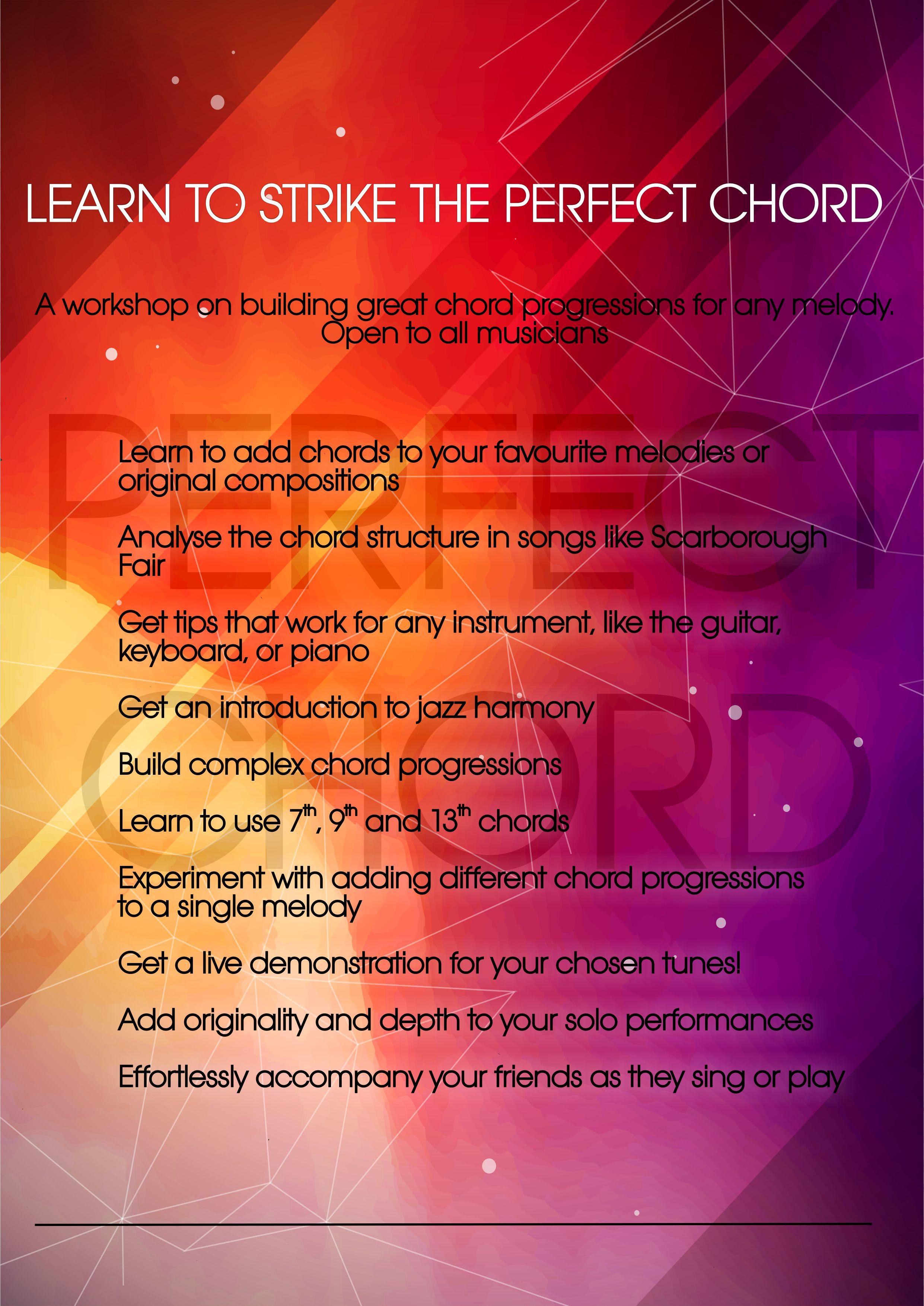Perfect Chord General Tuhin Raos Piano Studio
